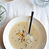 Miso Sweet Potato Soup With Herb- and Sesame-Roasted Carrots