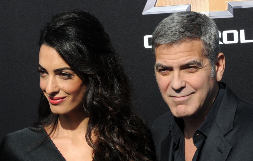 Amal Clooney Black and Red Dress at Tomorrowland Premiere