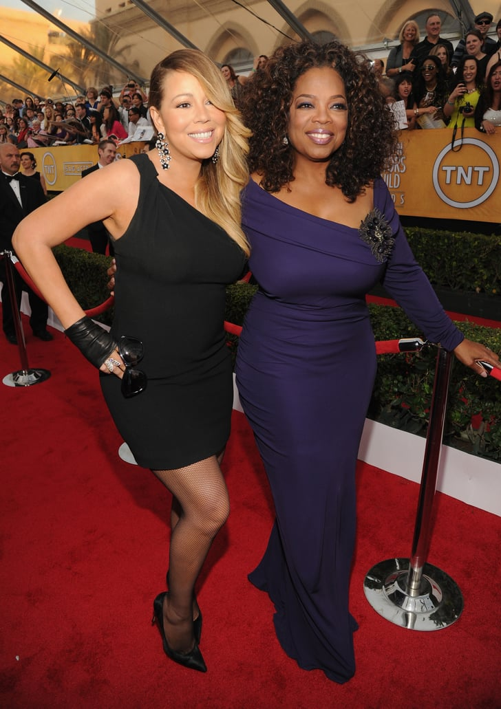 Mariah Carey and Oprah Winfrey doubled up at the SAG ...