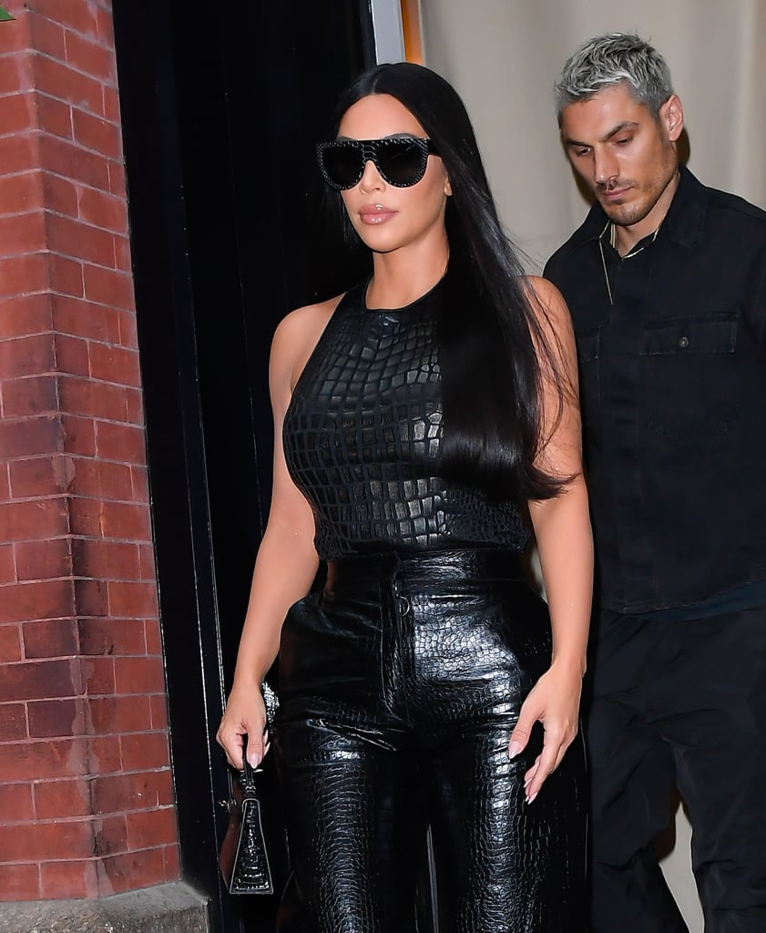 Kim Kardashian's Dark Hair Color