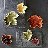 Williams Sonoma Maple Leaf Condiment Plates