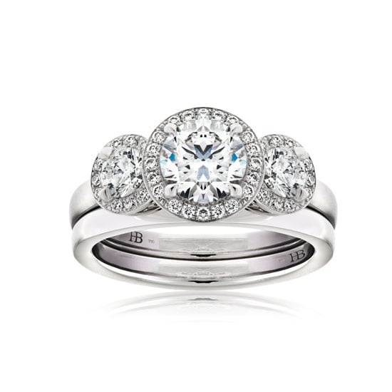 Signature Trilogy white gold and 1.68 diamond ring, from $26,380, Hardy Brothers, stockists: (07) 3253 6434