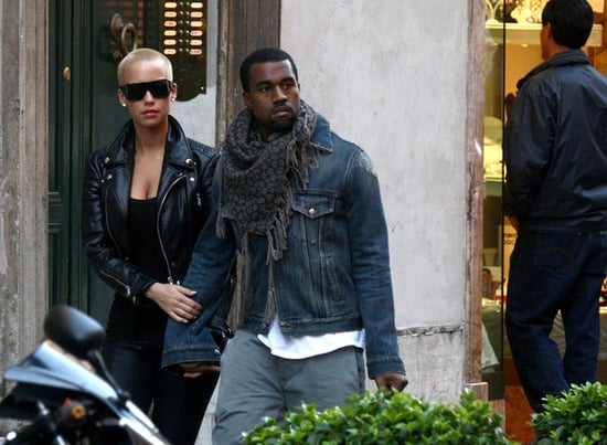 Kanye and Amber Rose go shopping in Italy