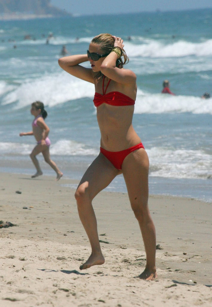 Kate wore red on the Fourth of July in Malibu in 2006.