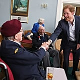 In June, Prince Harry met with Normandy veterans at a special reception in Portsmouth, England.
