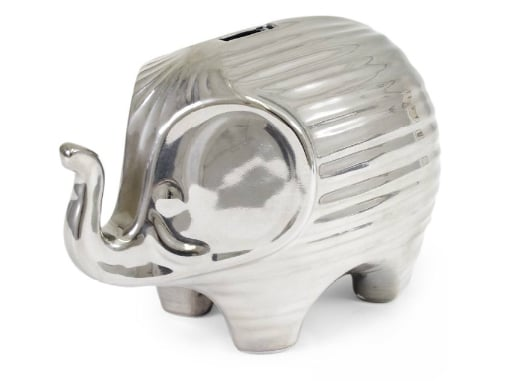 Platinum Elephant Bank ($168)