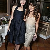 Mad Men's Jessica Paré chose a textured navy blue halter dress, while Lea Michele kept it formfitting and sexy in a Maria Lucia Hohan nude bustier top and pencil skirt combo.