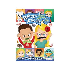 Wacky Faces Create A Face Sticker Activity Book
