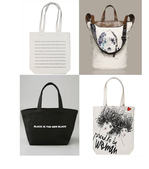 Shopping: Fashion-Forward Canvas Totes For All Seasons