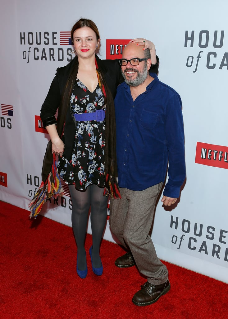 Amber Tamblyn and David Cross goofed off together on the red carpet.