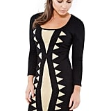 Contrast Print Knitted Dress