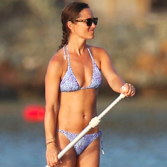 Pippa Middleton Paddleboarding in St. Barts Pictures