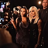 Kim Posed With Donatella Versace