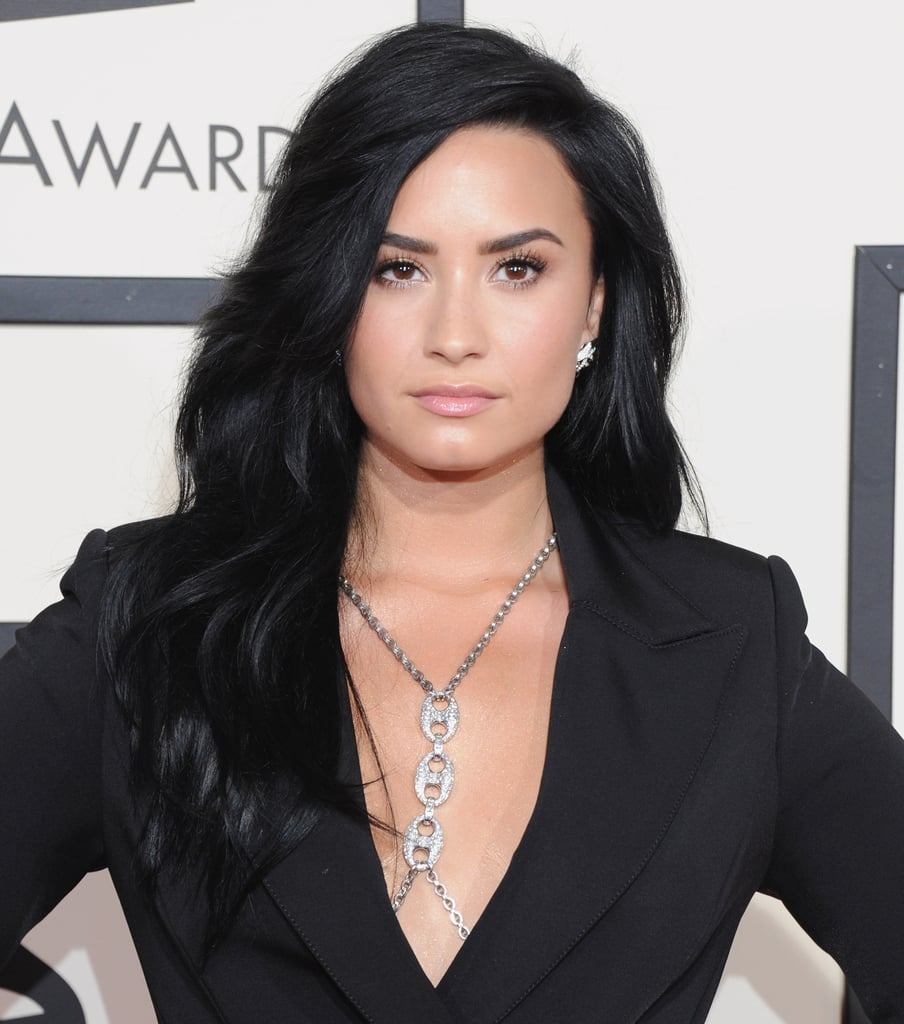 Superlong And Carbon Black Demi Lovato Hair Pictures