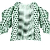 Caroline Constas Gabriella Off-the-shoulder Gingham Top