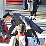 Prince William placed a wreath.