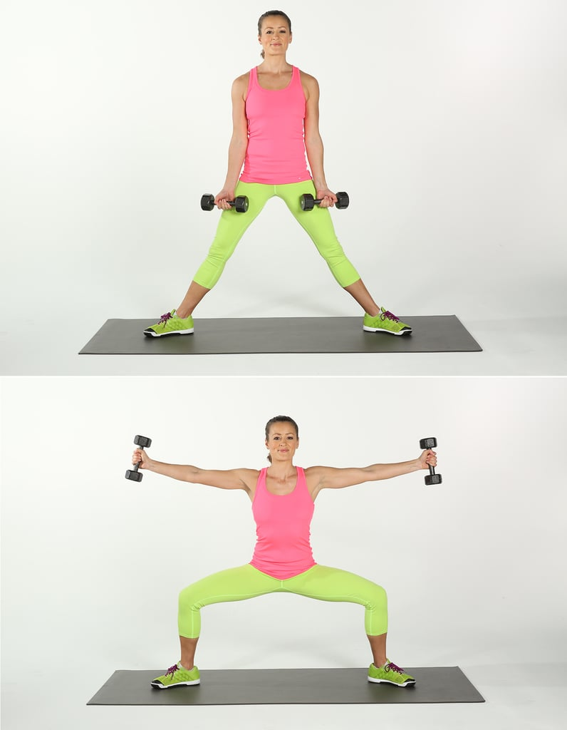 Sumo Squat With Side Arm Raises