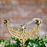 Gilded candelabras are stunning table features.