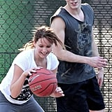 Jennifer Lawrence played some one-on-one basketball in January with her boyfriend, Nicholas Hoult, in LA.