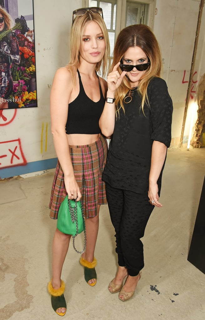 "Drew Barrymore was thrilled to meet model Georgia May Jagger over the weekend. On Saturday, the pair attended the Sunglass Hut London Fashion Week ""Punked Up"" tea party event, smiling and striking fun poses. Georgia May shared a thoughtful message about Drew after they met, writing on Instagram, ""So nice to meet the amazing and beautiful @drewbarrymore at the @sunglasshut #LFW event today!"" On Thursday, Drew took to Instagram to return the kind words, saying, ""Got to meet one of my biggest girl crushes at a @sunglasshut #LFW event this weekend…@georgiamayjagger."" Keep reading to see all the fun pictures of the duo, then check out 25 things you didn't know about Drew plus some of her sweetest family photos."
