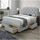 DG Casa Argo Tufted Upholstered Panel Storage Bed