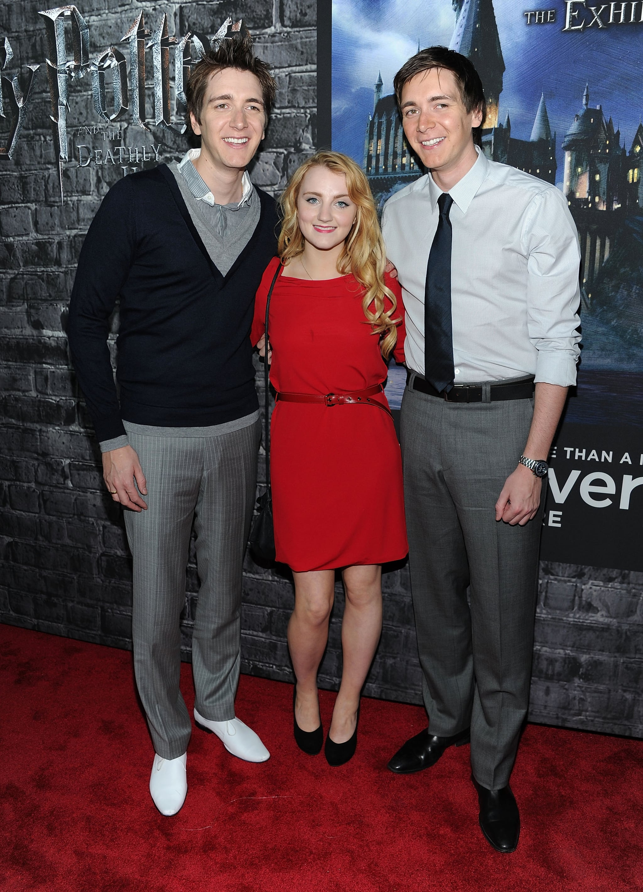 James Phelps, Evanna Lynch and Oliver Phelps