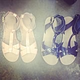 The perfect patent sandals for Summer, seen at Vanishing Elephant's latest collection viewing.