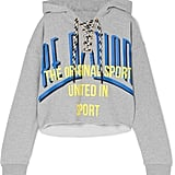 P.E Nation Rocket Shot Cropped Printed Cotton-Jersey Hoodie