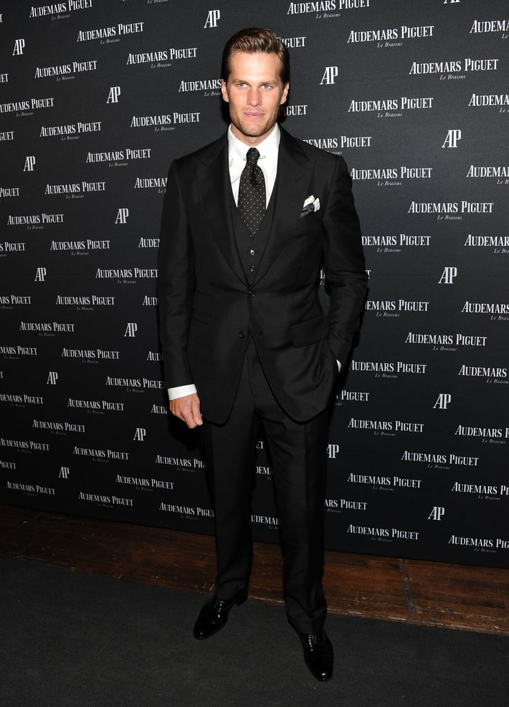Tom Brady in NYC for the Royal Oak 40 Years event at Park Avenue Armory.