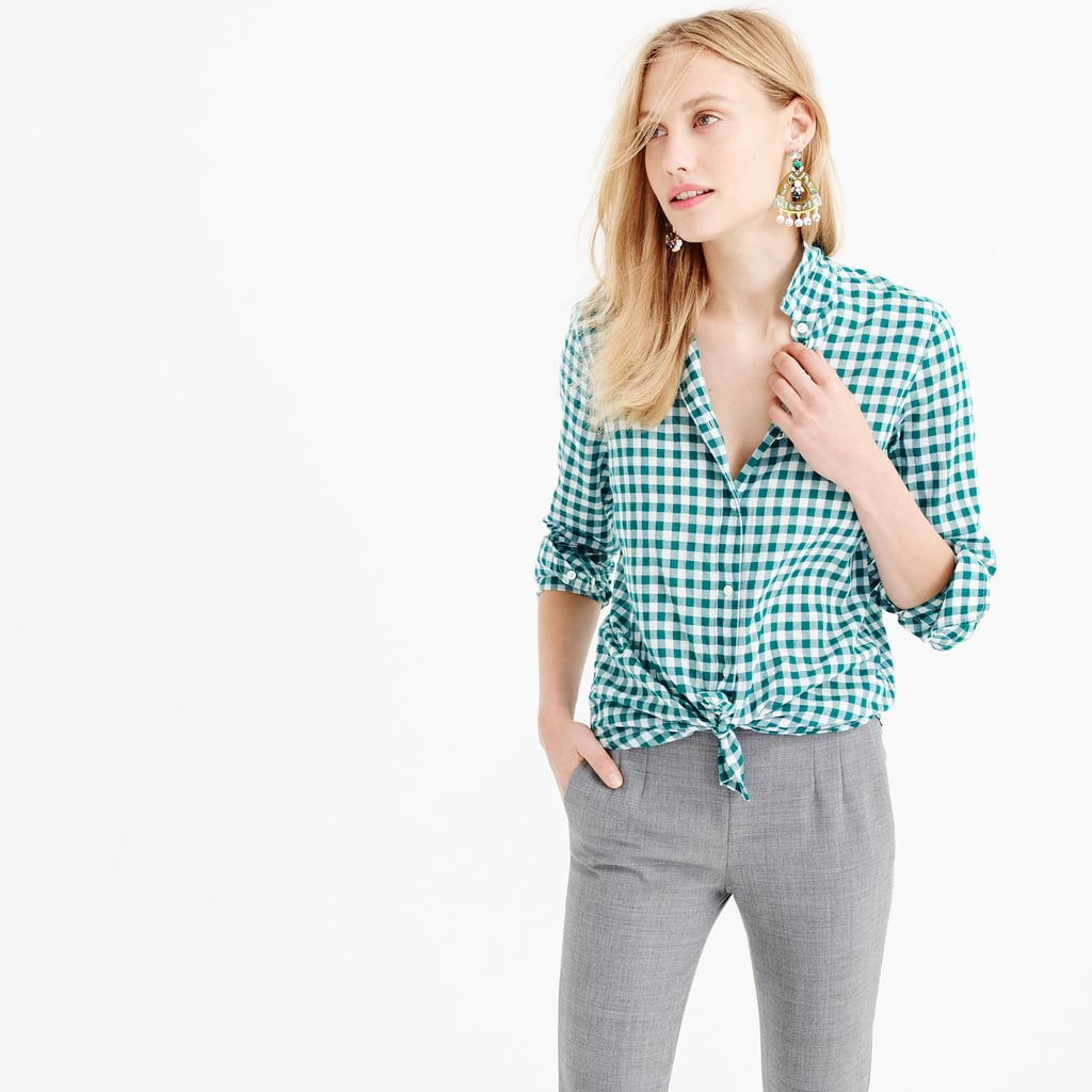 J.Crew Boy Shirt in Crinkle Gingham ($78)