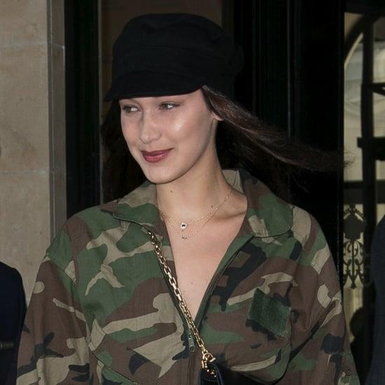 Bella Hadid Camouflage Jumpsuit