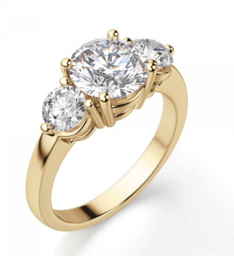 Diamond Nexus Simply Irresistible Round Cut Engagement Ring