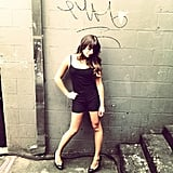 She flaunted her fit frame in a tight black ensemble on the Glee set in NYC in September 2012. Source: Instagram user msleamichele