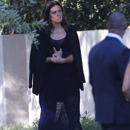 Mandy Moore Black Dress at Justin Hartley's Wedding