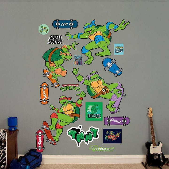 Fathead Teenage Mutant Ninja Turtles Classic Skateboarding Collection Wall Decals