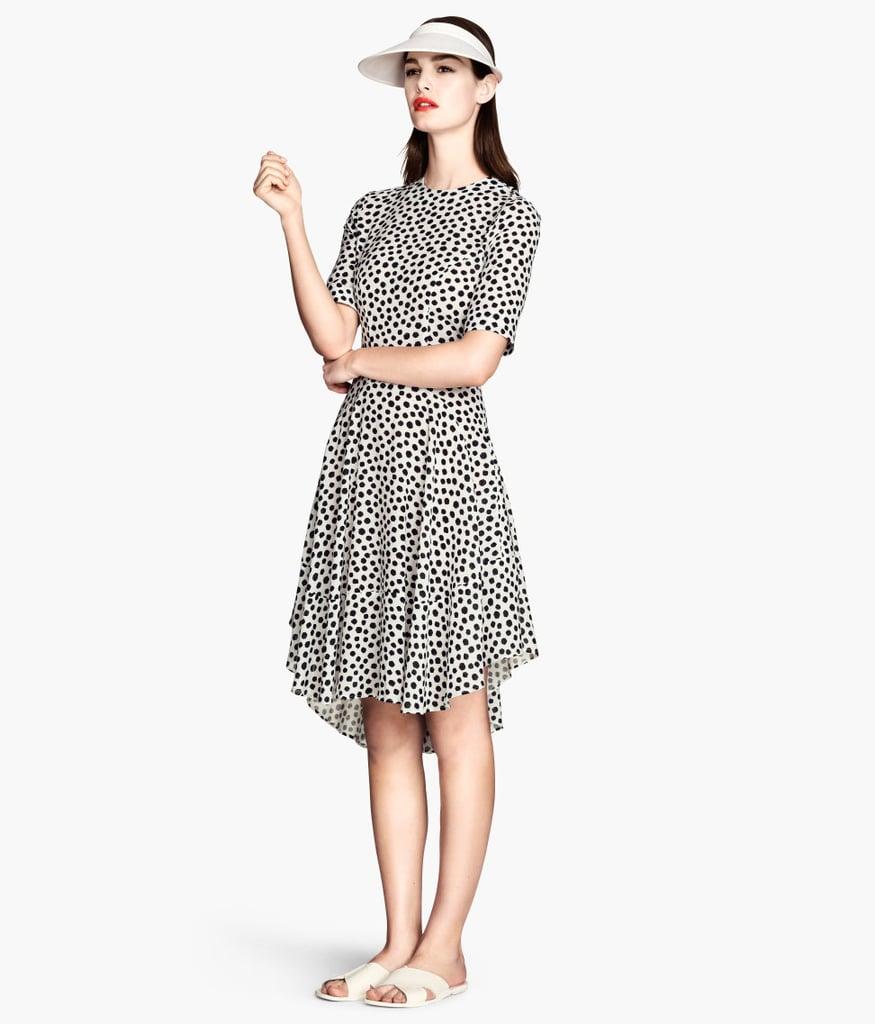H&M Black and White Polka-Dot Dress