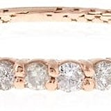 Jacquie Aiche White diamond & rose-gold ring ($1,185)