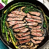 Pan-Seared Steak With Asparagus and Mushrooms