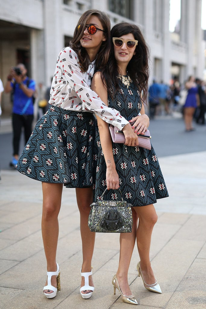 Matching pals Eleonora Carisi and Valentina Siragusa showed us how to complement your prints and how to complement each other.