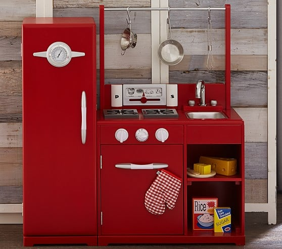 Red All In One Retro Kitchen