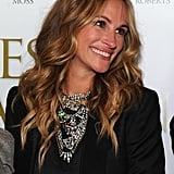 Julia Roberts With Deeper Blond, Wavy Hair in 2011