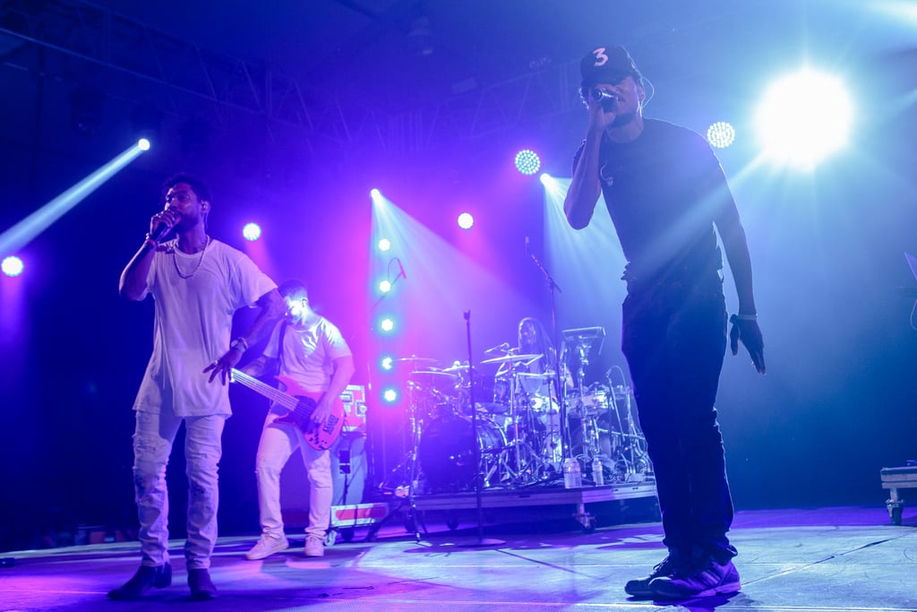 Chance the Rapper making a surprise appearance during Miguel's set in 2016.