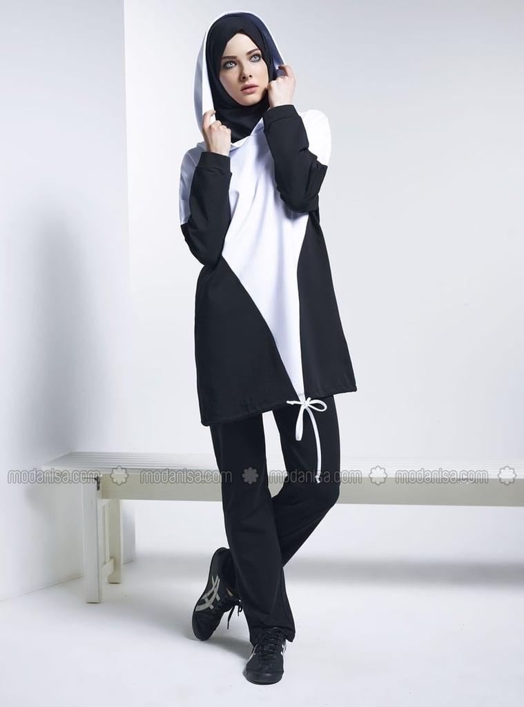 Modanisa Black Sportswear Tracksuit ($72)