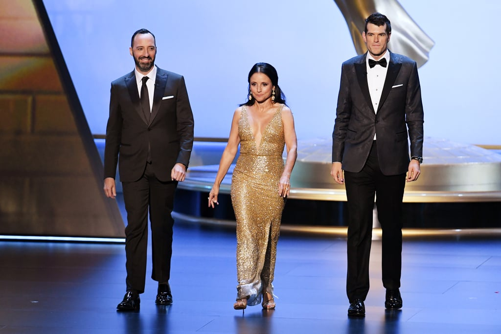 Tony Hale, Julia Louis-Dreyfus, and Timothy Simons at the 2019 Emmys