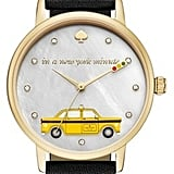 Kate Spade Metro Taxi Leather Strap Watch