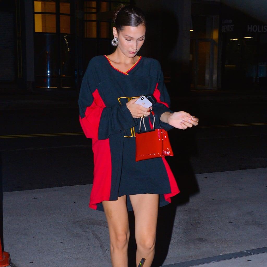cdacebc8 Bella Hadid's Tommy Hilfiger Jersey Dress   POPSUGAR Fashion
