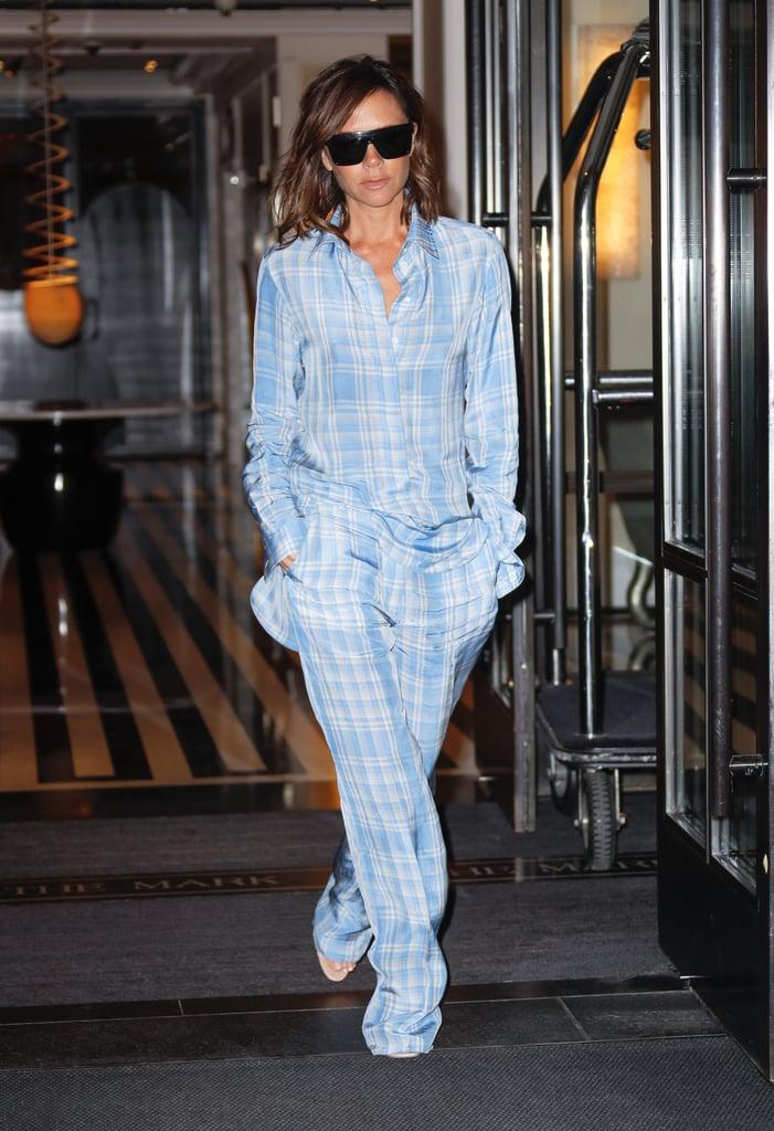 Victoria Beckham's Blue Plaid Outfit