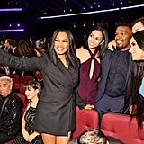 Pictured: Garcelle Beauvais, Corinne Foxx, Jamie Foxx, and Demi Lovato