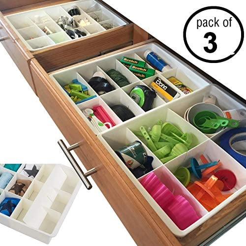 Uncluttered Designs Adjustable Drawer Dividers