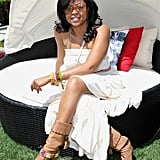 Taraji P. Henson lounged in the sun at Coachella's Guess Hotel.